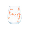 Personalised Stemless Bridal Party Glass | Bride | Maid of Honour | Bridesmaids