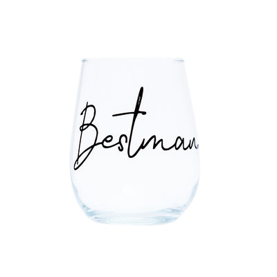 Personalised Stemless Grooms Party Glass | Groomsman | Groom | Bestman