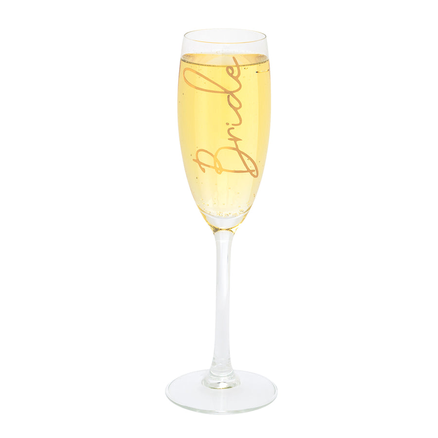 Personalised Champagne Flute Glass | Name and Role