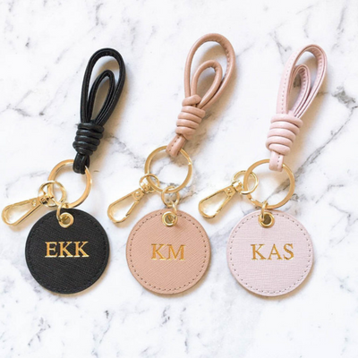 Personalised Monogram Keyring | Gold