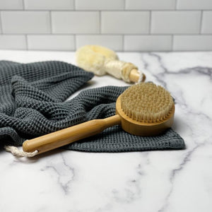 Bamboo Bath Brush - dry brush