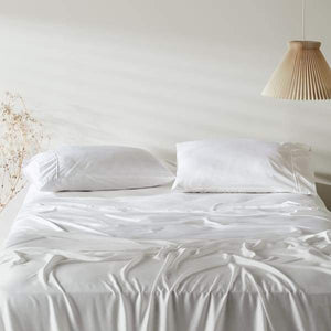 Bamboo Lyocell Pillowcase Set - Standard / Feather White -
