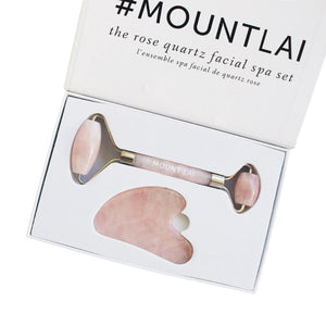 Rose Quartz Facial Spa Set - Facial Tool Set