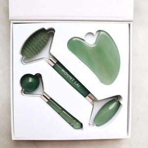 The Jade Trio Balancing Set - Facial Tool Set