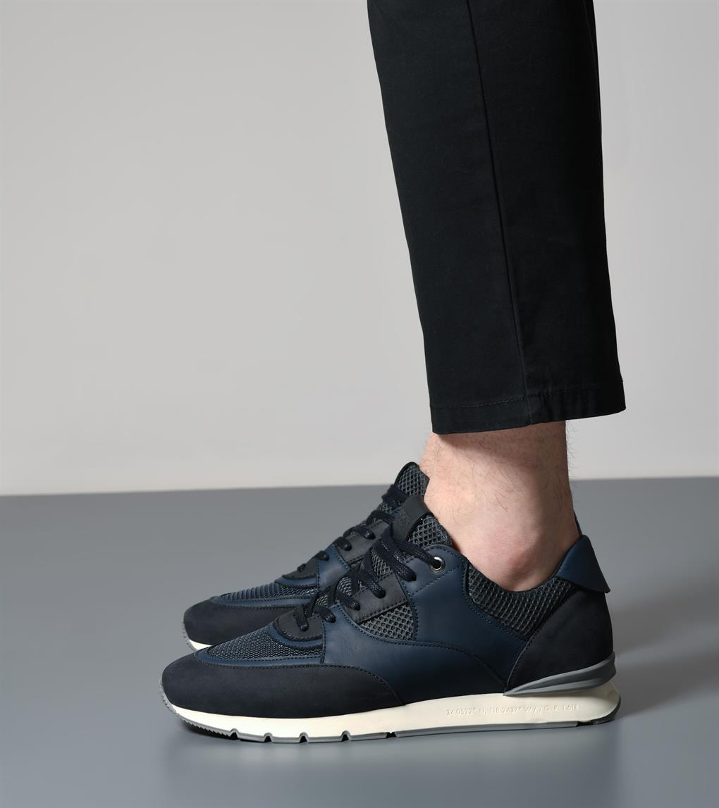 Belter | Navy Leather Nubuck Mesh AHP193-55