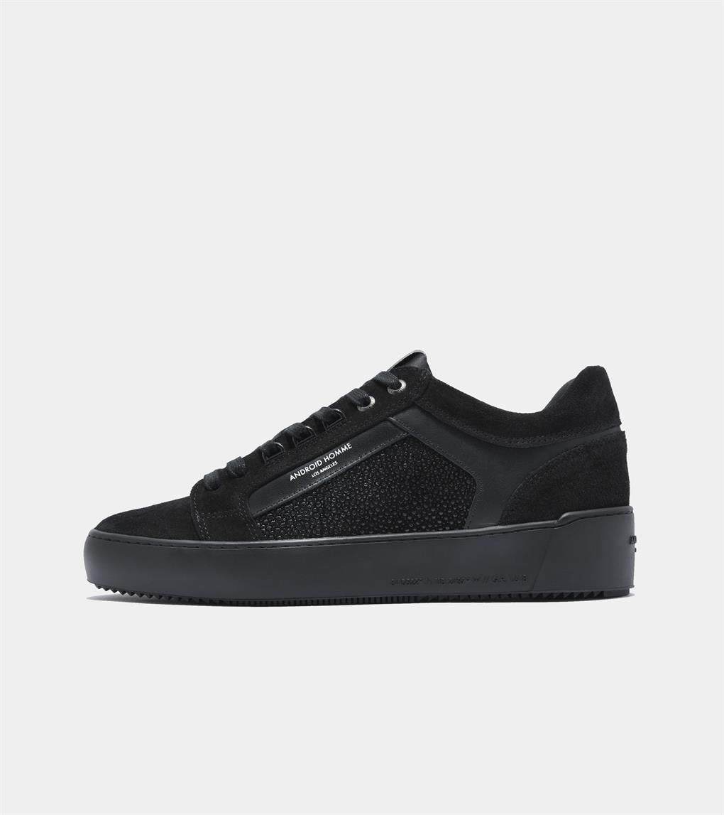 Venice  | Carbon Black Stingray Suede AHP211-24