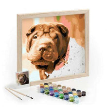 Load image into Gallery viewer, Personalised Pet Paint By Numbers Photo | Custom DIY Oil - That Woof Store
