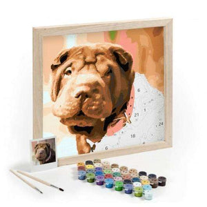 Personalised Pet Paint By Numbers Photo | Custom DIY Oil - That Woof Store