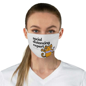 Social Distancing Cat Fabric Face Mask - That Woof Store