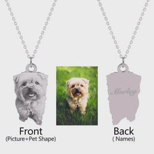 Load and play video in Gallery viewer, Personalized Engraved Pet Photo Necklace Pendant | 925 Sterling Silver