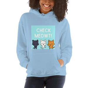 Check Meowt Cat Hoodie - That Woof Store