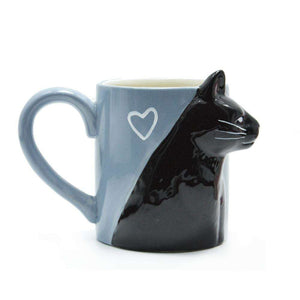 Unique Handmade Cute Cat Kissing Mugs - That Woof Store