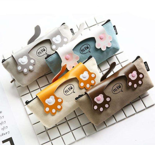Back to School | Cat Paws Pencil Case for Cat Lovers - That Woof Store