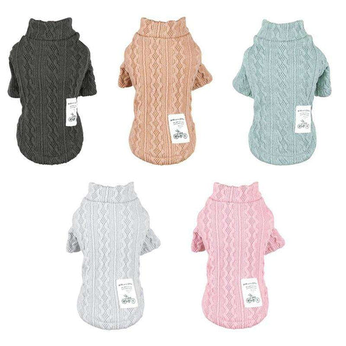 Dog Winter Warm Turtleneck Sweater--Knitwear For Small to Medium Dogs - That Woof Store
