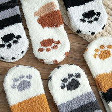 Load image into Gallery viewer, Cat Socks | Premium Fuzzy Cat Paw Socks - That Woof Store