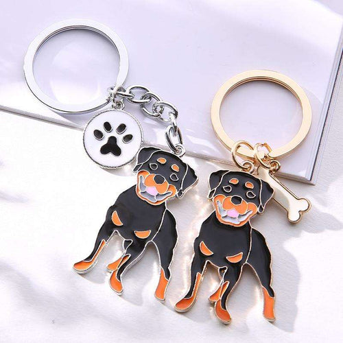 Cute Animal Rottweiler Key Ring - That Woof Store