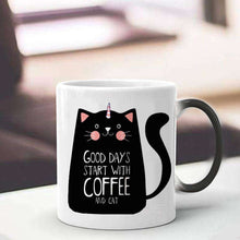 Load image into Gallery viewer, Novelty Cat Lady Gifts | 330ml Cute Cat Magic Mug Temperature Color Changing Chameleon Mugs Heat Sensitive Cup - That Woof Store