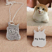 Load image into Gallery viewer, Personalized Engraved Pet Photo Necklace Pendant | 925 Sterling Silver - That Woof Store