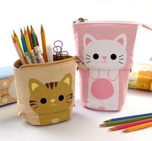 Load image into Gallery viewer, Back to School | Flexible Big Cat Pencil Case Fabric - That Woof Store