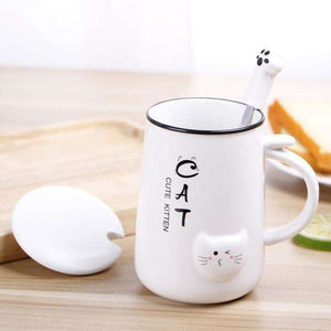 Cute Cat Cafe Coffee Mug - That Woof Store