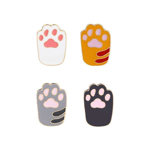 Enamel Cat Paws Pin Brooches | Pins for Backpacks - That Woof Store