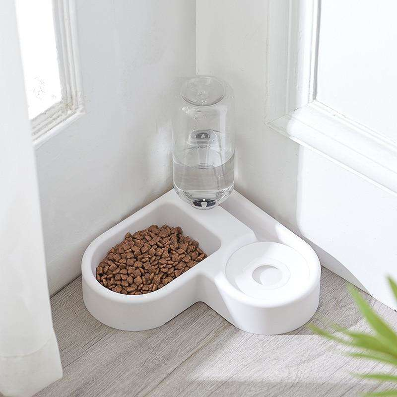 Pet Cat Feeder Bowl for Dog and Cat With Automatic Water Double Bowls - That Woof Store