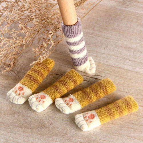 4 Pieces Set | Non-Slip Cat Paw Socks for Cat Lovers - That Woof Store