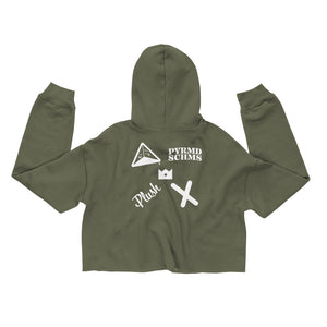 "®the pyramid schemes x Plush 44 ""Combo"" Crop Hoodie"