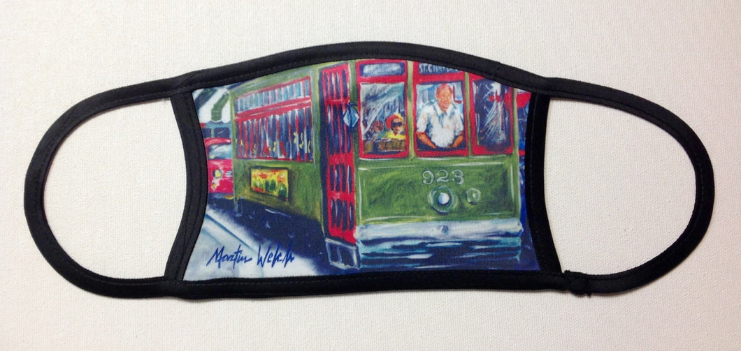 Mid Summer New Orleans Street Car Face Mask