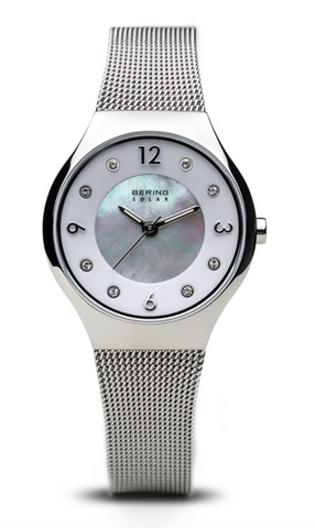 BERING Womens Analogue Solar Powered Watch with Stainless Steel Strap 14427-004