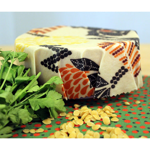 beeswax wraps covering food