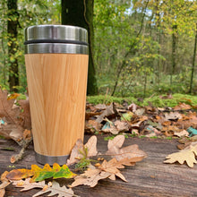 Load image into Gallery viewer, Premium Bamboo and Stainless Steel Coffee Cup - 450ml