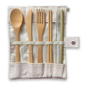 Reusable Bamboo Cutlery Set - UK - Zero Waste