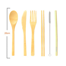 Load image into Gallery viewer, Reusable Bamboo Cutlery Set - UK - Zero Waste