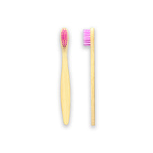 Load image into Gallery viewer, Children's Bamboo Toothbrush - Pack of 4