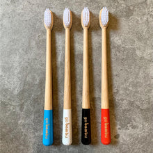 Load image into Gallery viewer, Bamboo Toothbrush - Pack of 4 - Soft, Medium and Charcoal