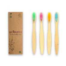 Load image into Gallery viewer, bamboo toothbrushes children