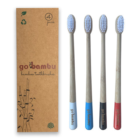 bamboo toothbrushes 4 pack for wholesale
