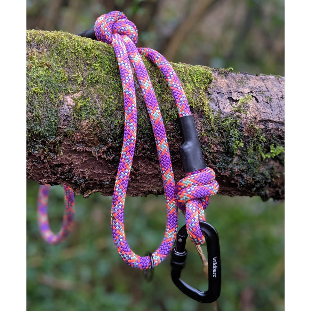 Rope Dog Lead - Fuchsia, Mint & Coral | Recycled