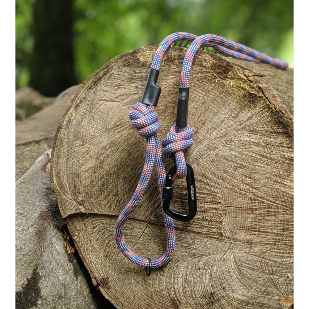 Rope Dog Lead - Blue, Red, Grey & White Mix