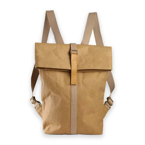 goBag - Vegan Leather Rucksack - UK - Unisex - Brown