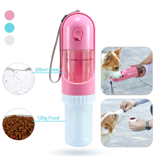 2 in 1 Food & Water Bottle - pawstive