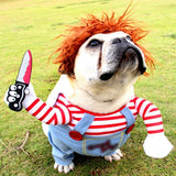 Killer with Knife Pet Costume - pawstive