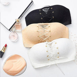 💥 [BUY 1 FREE 1 PROMO] 💥 SOY™ Lace Strapless Drawstring Bandeau