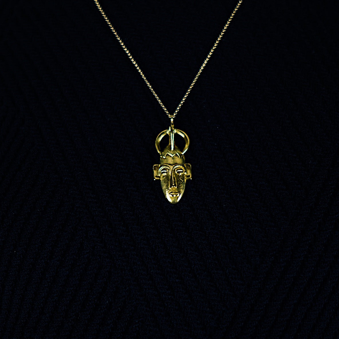 SENUFO MASK NECKLACE