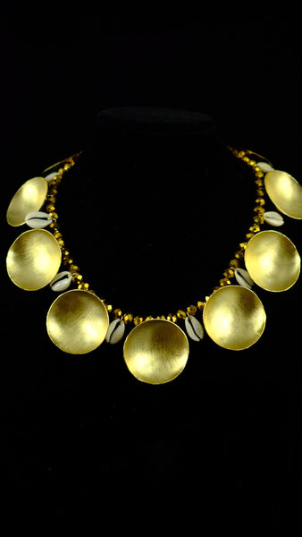 SHELL & SPHERE COLLAR PIECE