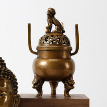 Load image into Gallery viewer, Brass Incense Burner