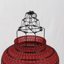 Load image into Gallery viewer, Oriental Large Red Fabric Lantern