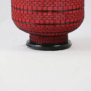 Oriental Large Red Fabric Lantern