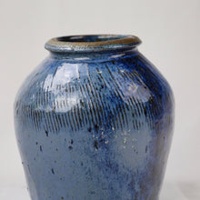 Load image into Gallery viewer, Blue Ceramic Jar